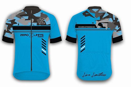 Urban Camo Cycling Jersey | Cyan