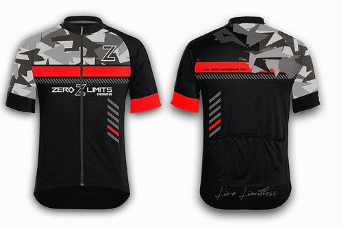 Urban Camo Cycling Jersey   Red
