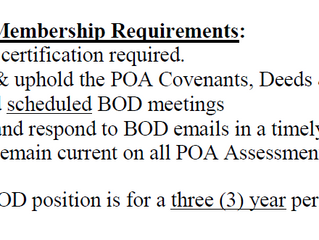 Application for Board of Directors Position
