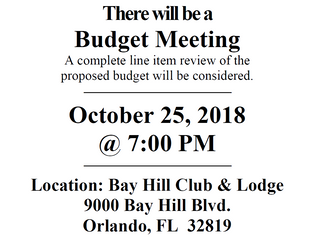 Budget Meeting Notice