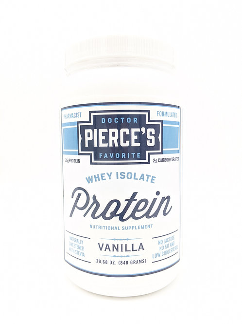 Whey Isolate Protein Supplement, Vanilla