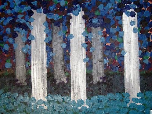 Abstract, modern, symbolism, impressionist, Monet, woods, fine art, gallery, acrylic, wood