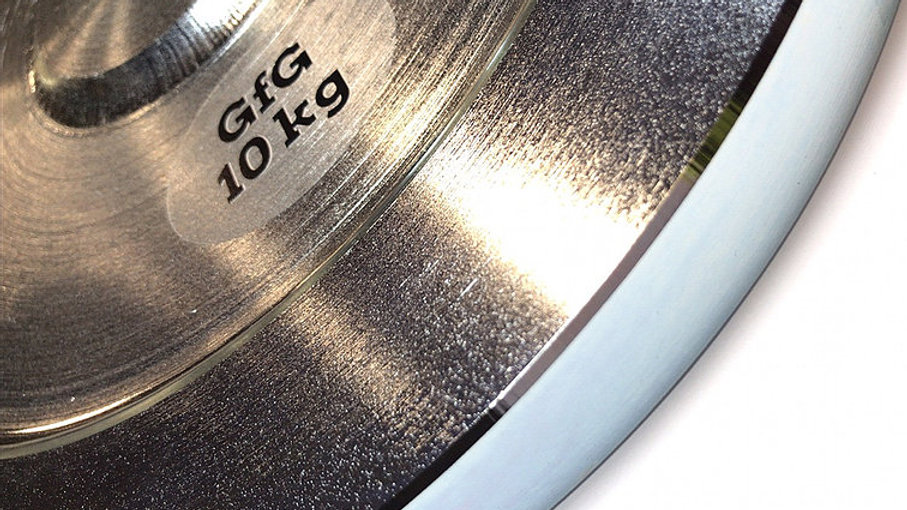 """2 x 10 KG 1"""" Plated Steel Weight Plates"""