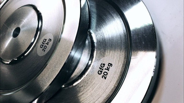 """2 x 20 KG 1"""" Plated Steel Weight Plates"""