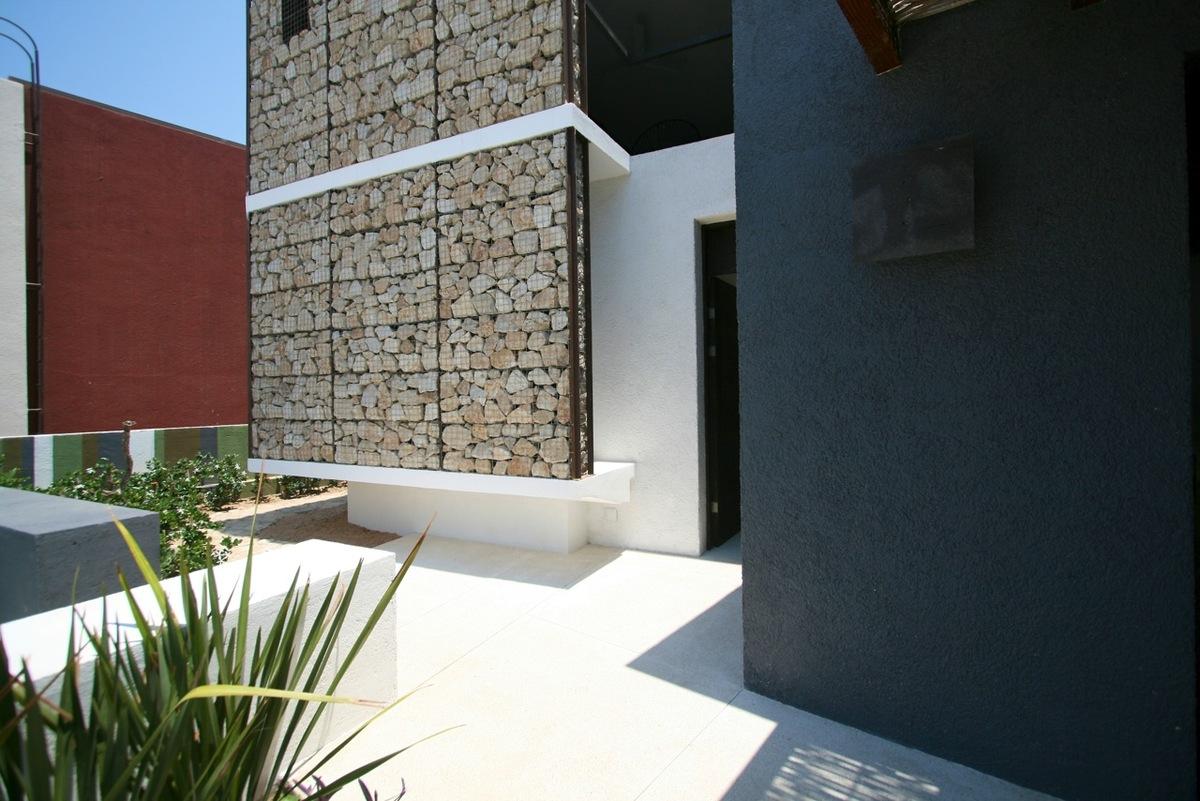 Фасады из габионов