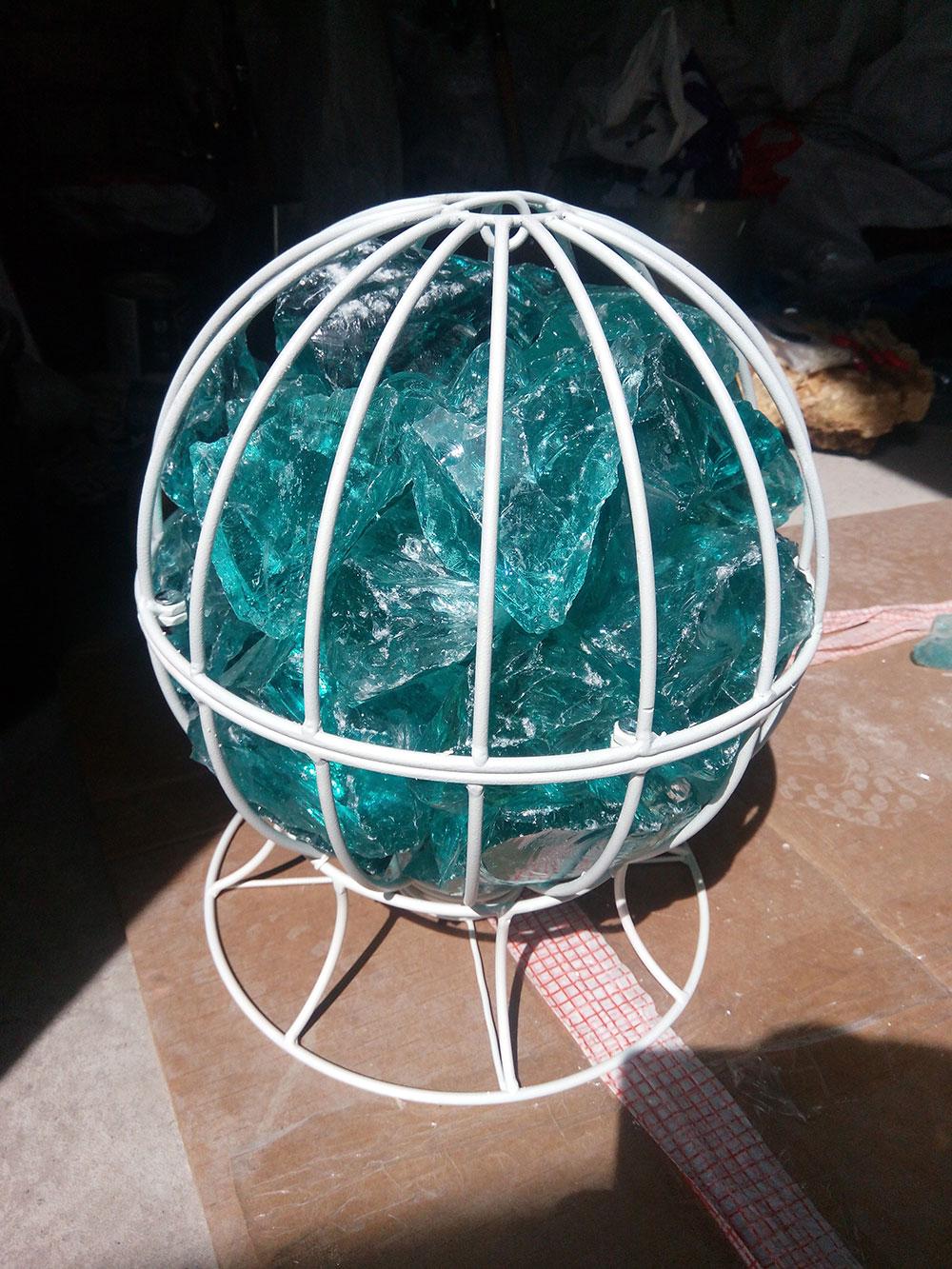 Декоративные изделия из габионов