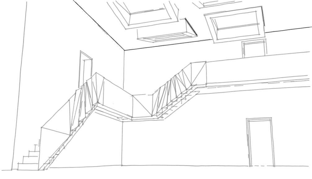 escalier coursive