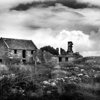 Old Irish Cottage B&W 0460