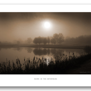 Misty Lake Fine Art Print 16x12