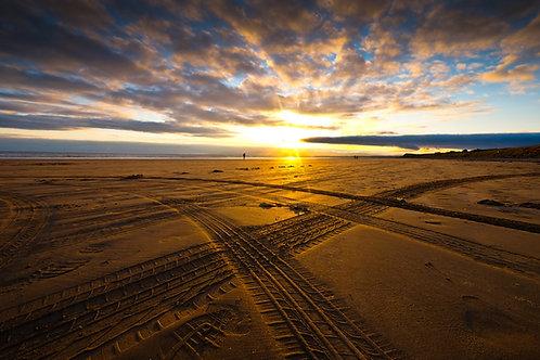 Rossnowlagh Beach Tyre Tracks 0383
