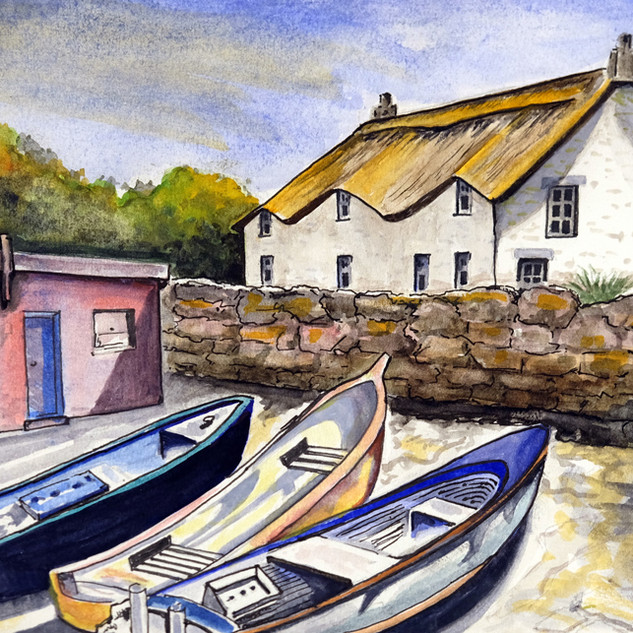 DSCF2001 Cornish Boats. An original A4 watercolour painting.jpg