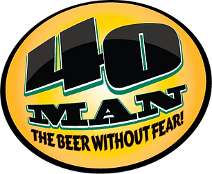 40 Man The Beer Without Fear logo