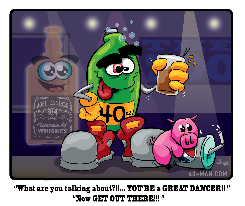 booze-talking...