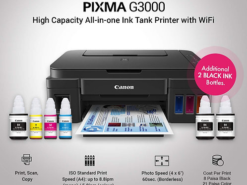 Canon Pixma G3000 All-in-One(Print/Scan/Copy)