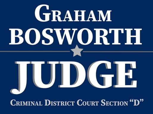 Graham Bosworth Announces Run for Criminal District Court Judge, Section D