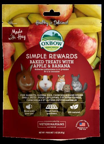 Oxbow Apple and Banana Treats 心心餅 -3oz
