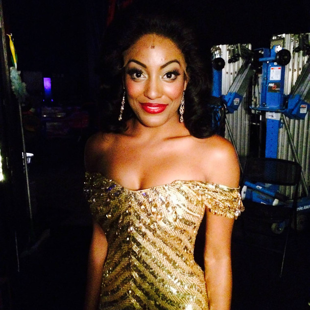 Backstage as Diana Ross in Motown the Musical .