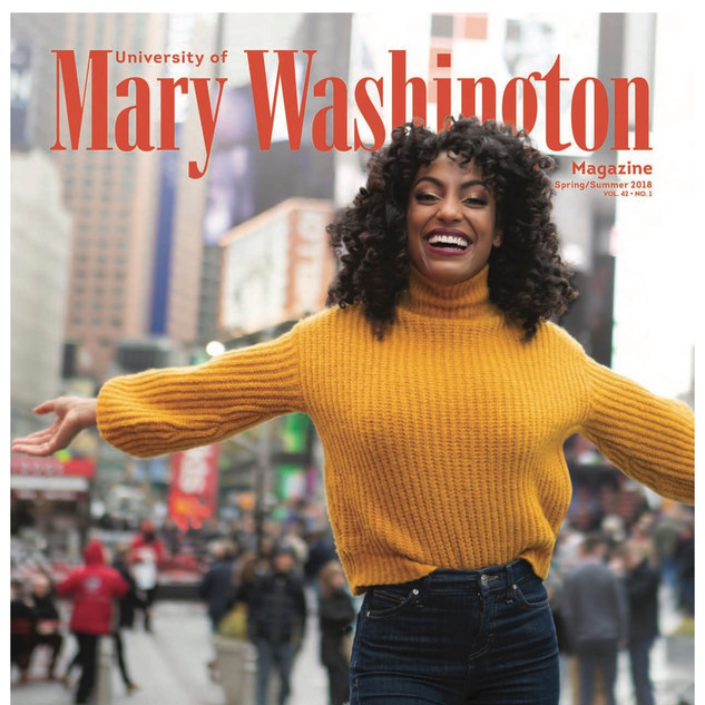 On the Cover of Mary Washington Magazine. Photo by Geoff Greene