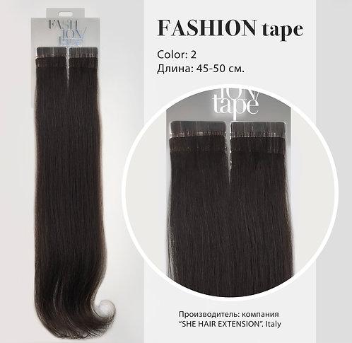 Пряди «Fashion tape» на полимерной ленте Natural color №2