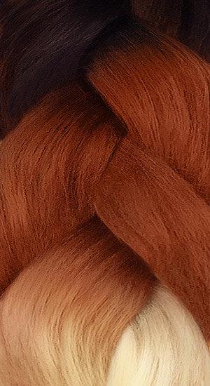 «Jambo silk braid» Ombre black copper brown