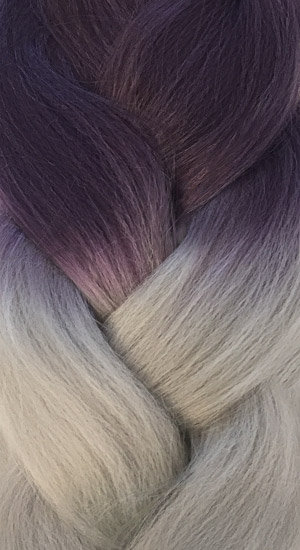 «Jambo silk braid» OMBRE Violet grey