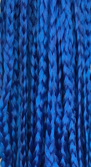 Straight braid Blue