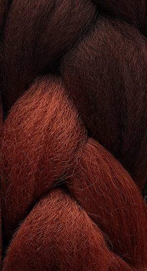 «Jambo silk braid» OMBRE Brown / red brown