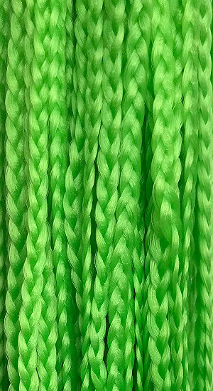 Straight braid Green