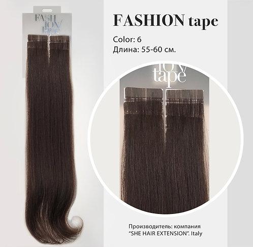 Пряди «Fashion tape» на полимерной ленте NATURAL COLOR №6