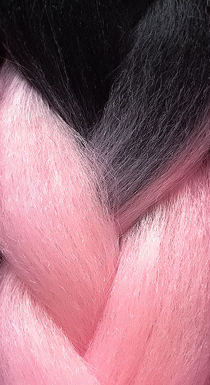 «Jambo silk braid» Ombre black pink