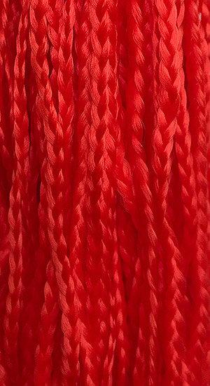 Straight braid Red