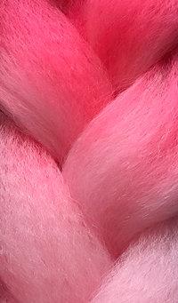 «Jambo silk braid» Ombre Deep pink / medium pink