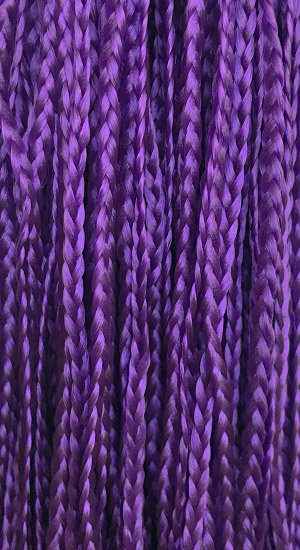 Straight braid Purple