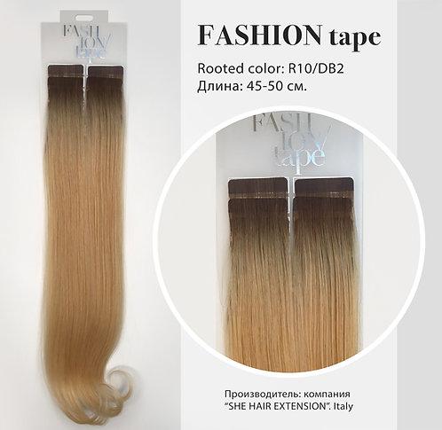 Пряди «Fashion tape» на полимерной ленте Rooted effect  № R 10/DB2
