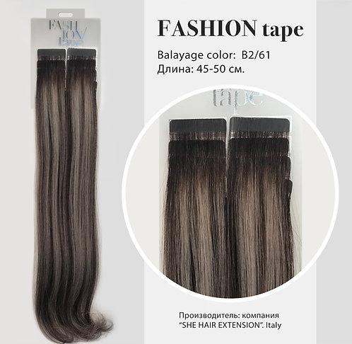 Пряди «Fashion tape» на полимерной ленте Balayage effect № B 2/61.