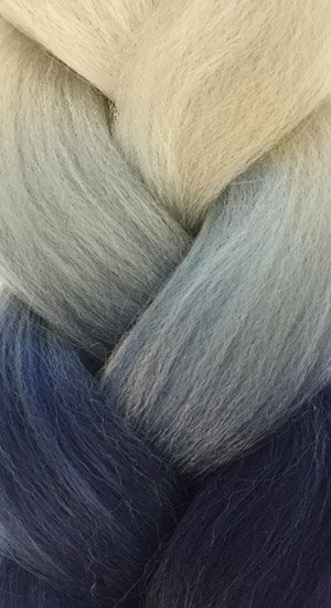 «Jambo silk braid» OMBRE blonde denim
