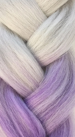 «Jambo silk braid» OMBRE Silver lily
