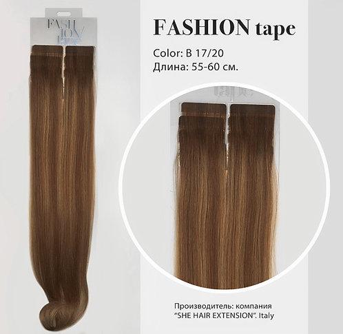 Пряди «Fashion tape» на полимерной ленте Balayage effect № B 17/20