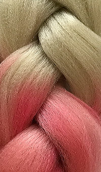 «Jambo silk braid» Ombre Deep blonde rose