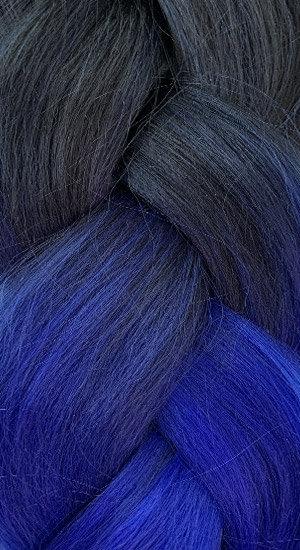 «Jambo silk braid» Ombre Black / dark blue