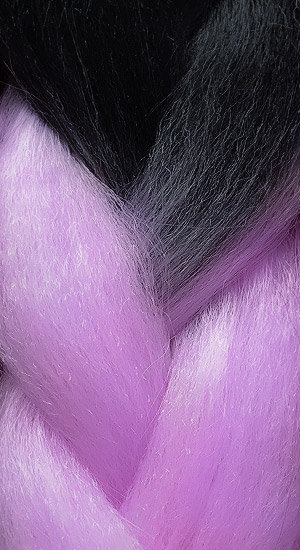 «Jambo silk braid» Ombre black amethyst