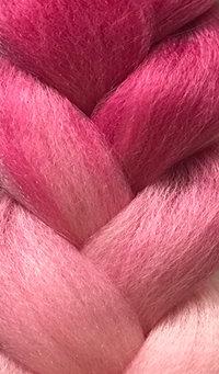 «Jambo silk braid» Ombre Fuxia / pink