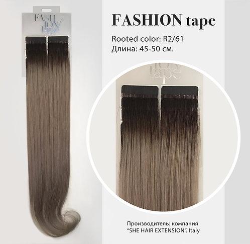 Пряди «Fashion tape» на полимерной ленте Rooted effect  № R 2/61