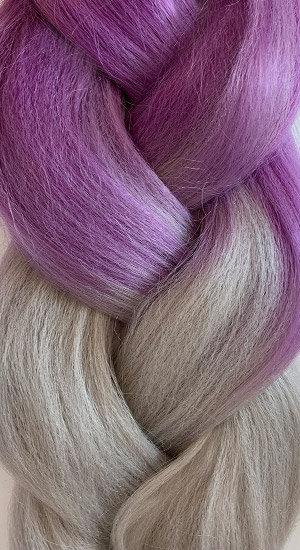 «Jambo silk braid» Ombre purple grey