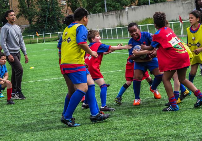 Entraînement de rugby par Maba