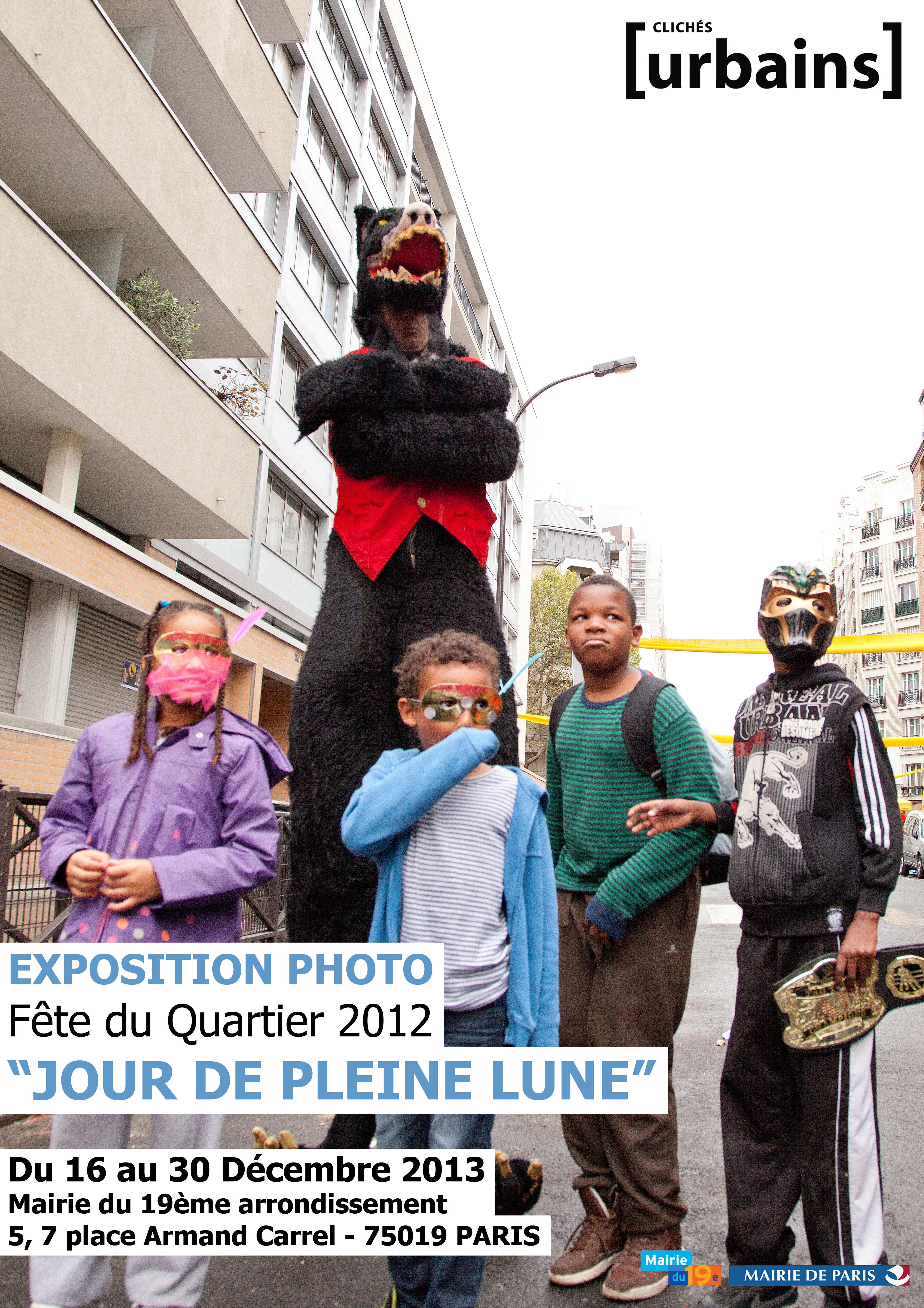 Affiche expo fete du quartier 2012 Mairie19