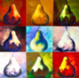 nine variatiens of a pear.jpg