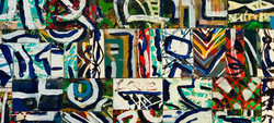 """LOVE PATCHWORK - 15""""x33"""" Acrylic/W"""