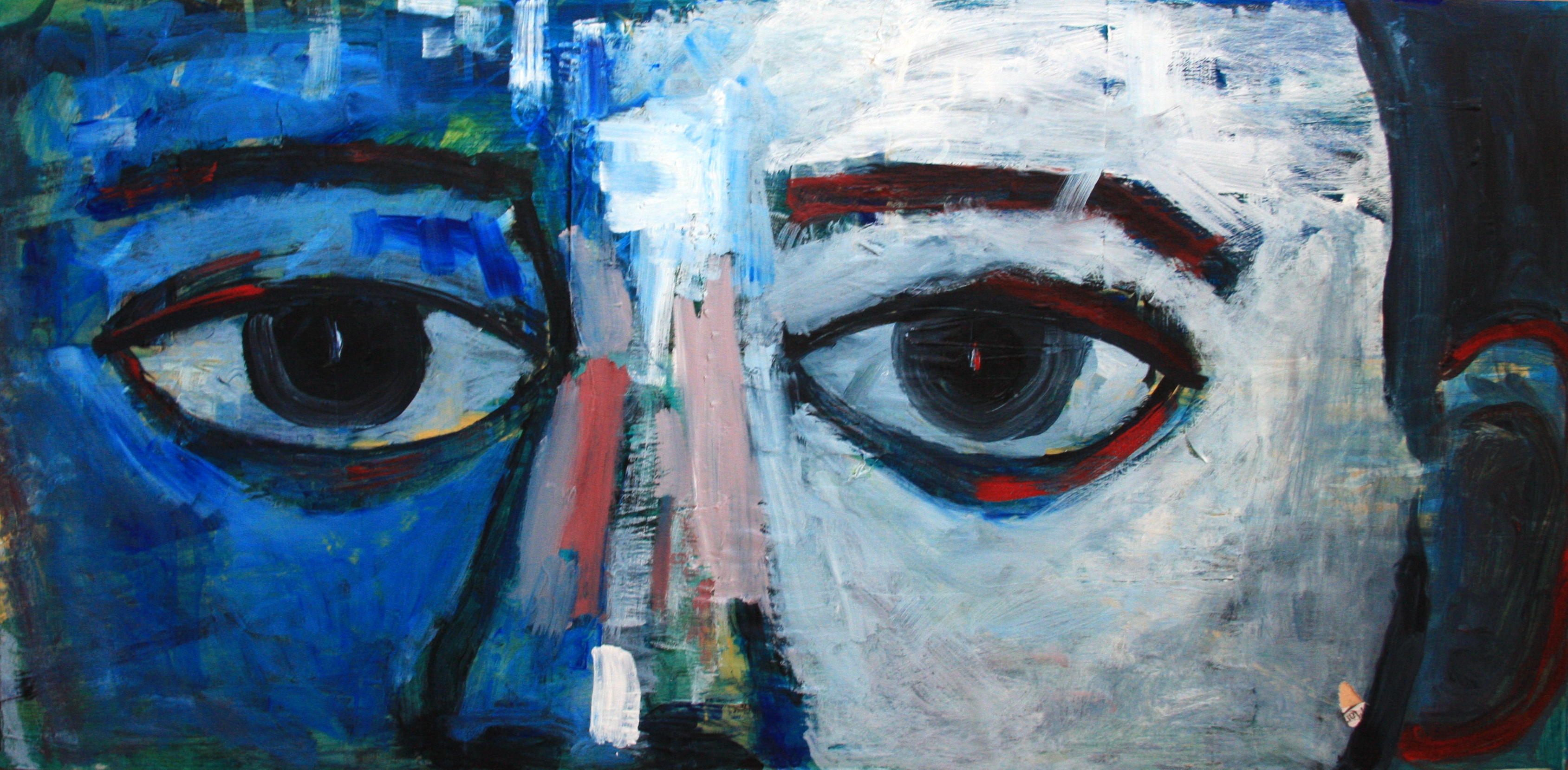 "EYES - 24""x48"" Acrylic on Wood"