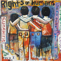 """RIGHTS OF HUMANS-48""""x48"""" Acrylic/W"""